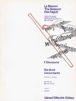6 Duos concertants op. 3 - Volume 2 DEVIENNE Partition laflutedepan
