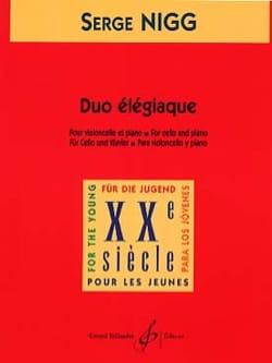 Duo élégiaque Serge Nigg Partition Violoncelle - laflutedepan