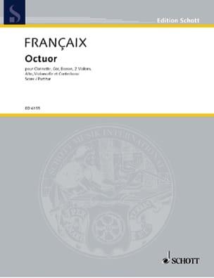 Octuor - Score FRANÇAIX Partition Grand format - laflutedepan