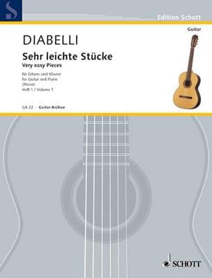 Sehr leichte Stücke -Heft 1 DIABELLI Partition Guitare - laflutedepan