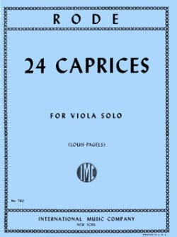 24 Caprices - Viola Pagels Pierre Rode Partition Alto - laflutedepan