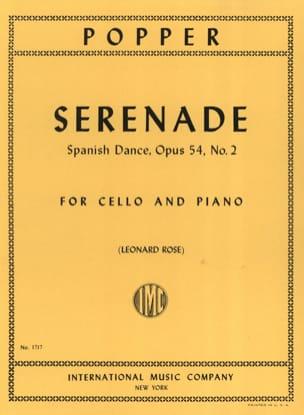 Sérénade op. 54 n° 2 David Popper Partition Violoncelle - laflutedepan
