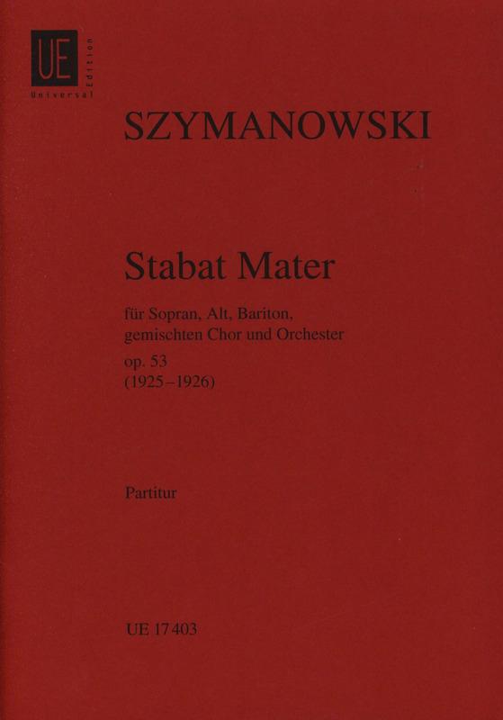 Stabat Mater op. 53 -Partitur - SZYMANOWSKI - laflutedepan.com