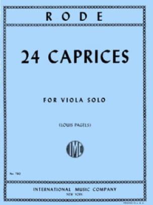 24 Caprices - Viola Pagels - Pierre Rode - laflutedepan.com