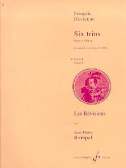 6 Trios Cahier 1 - 3 Flûtes DEVIENNE Partition laflutedepan