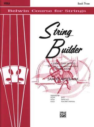 String Builder Volume 3 - Alto Samuel Applebaum Partition laflutedepan