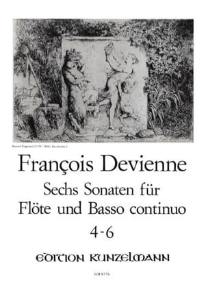 6 Flötensonaten - Nr. 4-6 - Flöte u. Bc DEVIENNE laflutedepan
