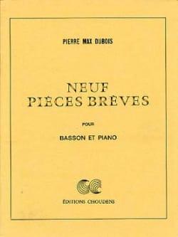 9 Pièces brèves Pierre-Max Dubois Partition Basson - laflutedepan