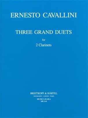 3 Grands Duos Ernesto Cavallini Partition Clarinette - laflutedepan