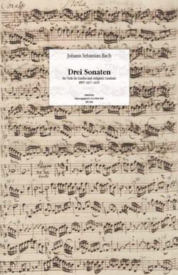 Fac-similé des 3 Sonates BWV 1027-1029 pour Viole de Gambe et Clavecin laflutedepan