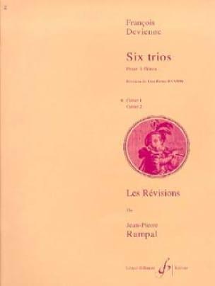 6 Trios Cahier 1 - 3 Flûtes - DEVIENNE - Partition - laflutedepan.com