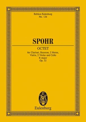 Oktett E-Dur, op. 32 E-Dur SPOHR Partition Petit format - laflutedepan