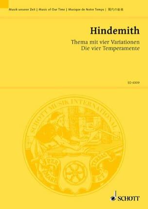 Thema mit vier Variationen -Partitur HINDEMITH Partition laflutedepan