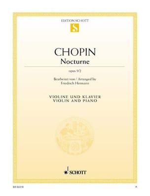 Nocturne op. 9 n° 2 CHOPIN Partition Violon - laflutedepan