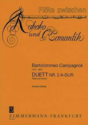Duett Nr. 2 A-Dur - Flöte Violine Bartolomeo Campagnoli laflutedepan