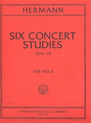 Six Concert Studies op. 18 for Viola Friedrich Hermann laflutedepan