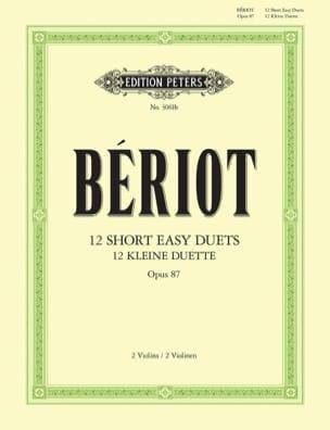 12 Short easy duets op. 87 BÉRIOT Partition Violon - laflutedepan
