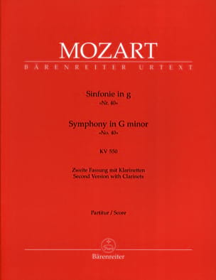 Symphonie Nr. 40 g-moll KV 550 MOZART Partition laflutedepan