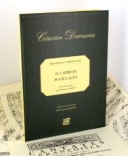 Bartolomeo Campagnoli - 41 Caprichos para el Alto - Fac Simile - Partition - di-arezzo.es
