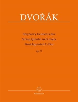 Quintette à Cordes en Sol Majeur, op. 77 DVORAK Partition laflutedepan