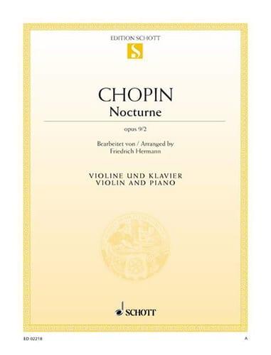 Nocturne op. 9 n° 2 - CHOPIN - Partition - Violon - laflutedepan.com