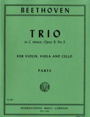 Trio op. 9 n° 3 C minor -Parts - BEETHOVEN - laflutedepan.com