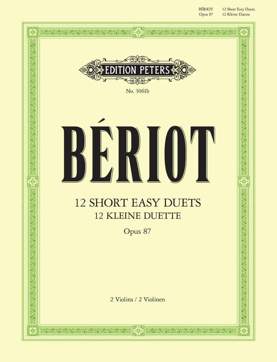12 Short easy duets op. 87 - BÉRIOT - Partition - laflutedepan.com