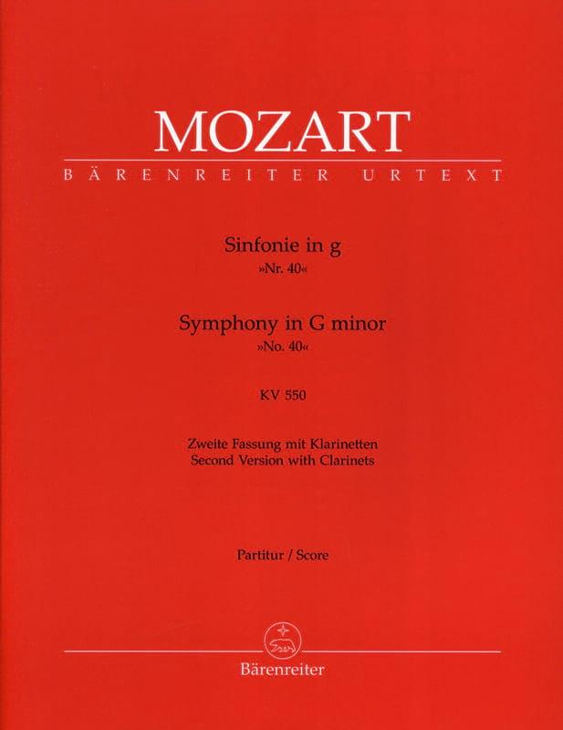 Symphonie Nr. 40 g-moll KV 550 - MOZART - Partition - laflutedepan.com