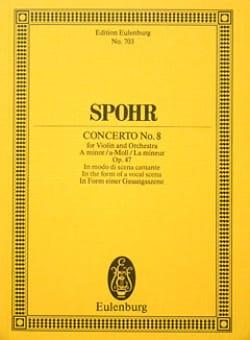Violin-Konzert Nr. 8 a-Moll SPOHR Partition laflutedepan