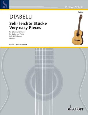 Sehr leichte Stücke - Heft 4 DIABELLI Partition Guitare - laflutedepan