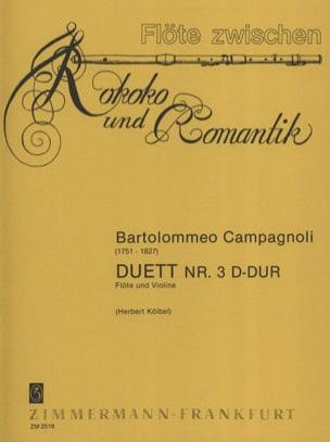 Duett Nr. 3 D-Dur - Flöte Violine Bartolomeo Campagnoli laflutedepan