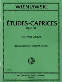 Caprices-Etudes Op.18 - 2 Violas WIENAWSKI Partition laflutedepan