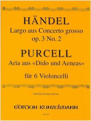 Largo / Aria - 6 Violoncelles HAENDEL Partition laflutedepan