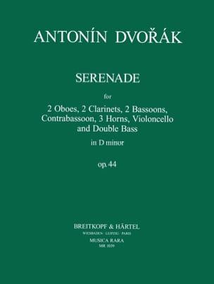 Sérénade en Ré Min. Op. 44 DVORAK Partition Sextuors - laflutedepan