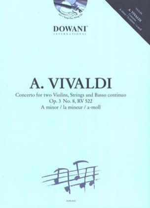Concerto pour 2 Violons Op. 3 N° 8 Rv 522 en la Mineur laflutedepan