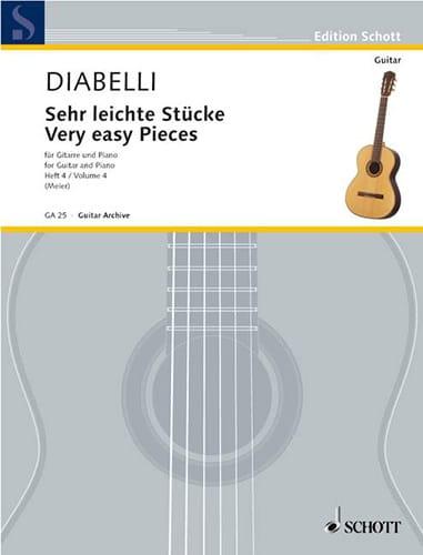Sehr leichte Stücke - Heft 4 - DIABELLI - Partition - laflutedepan.com