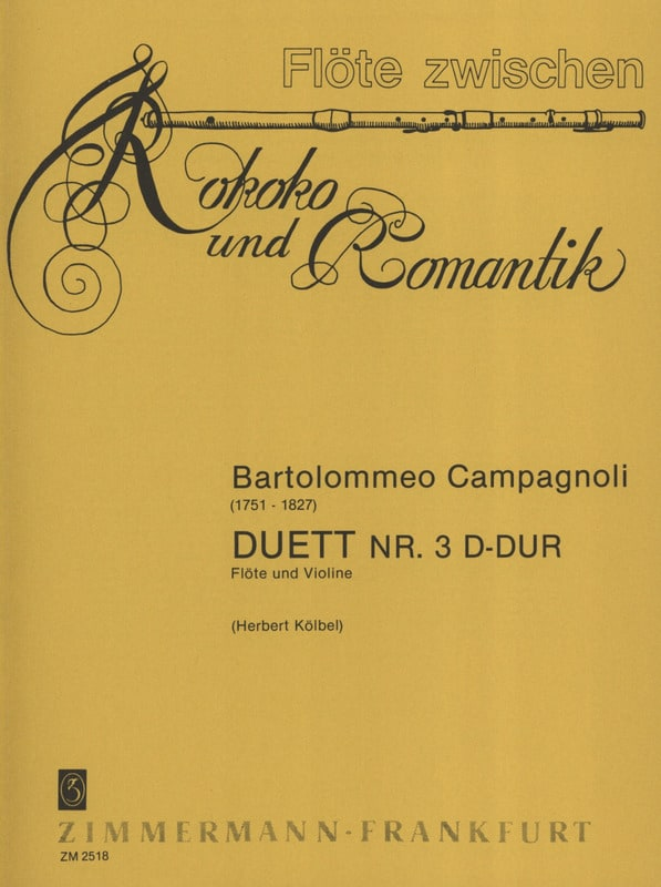 Duett Nr. 3 D-Dur - Flöte Violine - laflutedepan.com