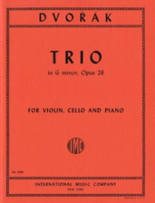 Trio G minor op. 26 - Parts - DVORAK - Partition - laflutedepan.com