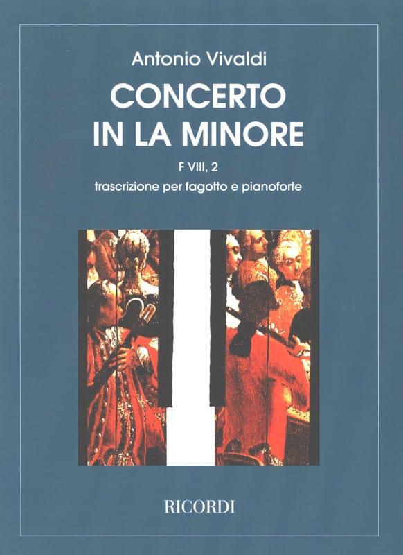 Concerto en la min. - F. 8 n° 2 - Basson/Piano - laflutedepan.com