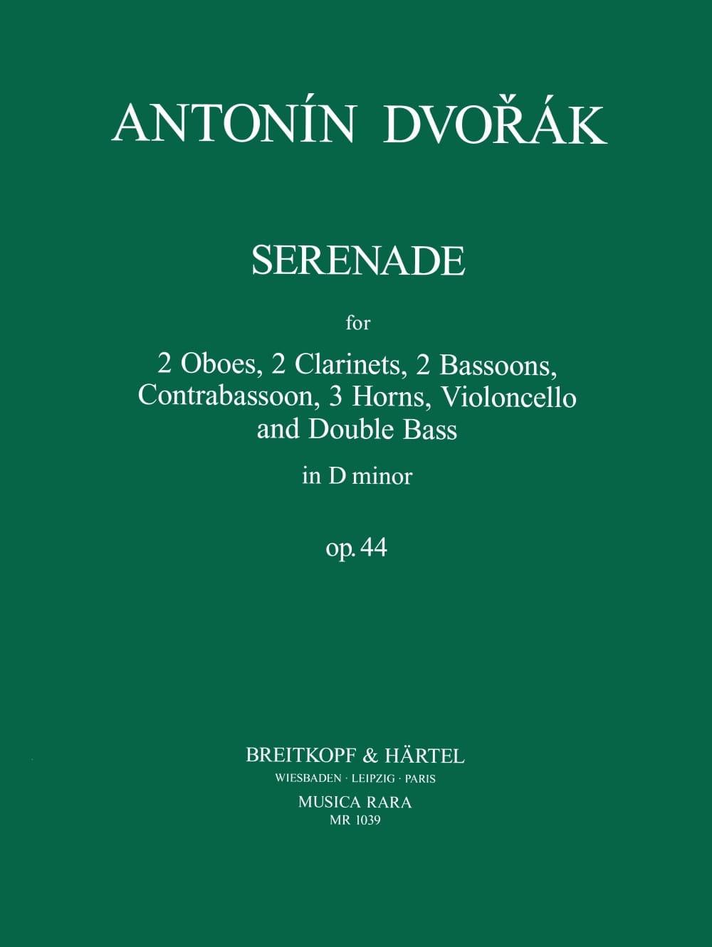 Sérénade en Ré Min. Op. 44 - DVORAK - Partition - laflutedepan.com