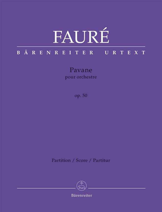Pavane pour Orchestre, opus 50 - FAURÉ - Partition - laflutedepan.com
