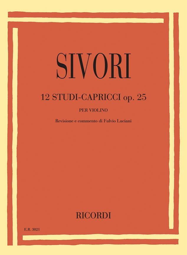 12 Studi-Capricci, op. 25 - Camillo Sivori - laflutedepan.com