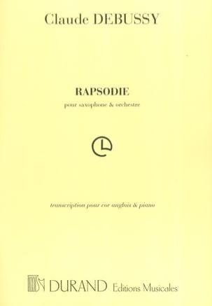 Rhapsodie Cor Anglais/Piano DEBUSSY Partition Hautbois - laflutedepan