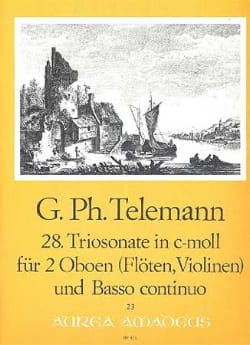 Triosonate Nr. 28 c-moll -2 Oboen und BC TELEMANN laflutedepan