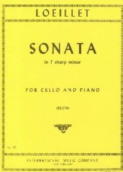 Sonate en fa dièze mineur - LOEILLET - Partition - laflutedepan.com