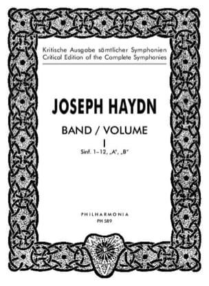 Edition complete Symphonies - Volume 1 1-12 - Score HAYDN laflutedepan