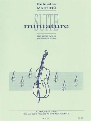 Suite Miniature MARTINU Partition Violoncelle - laflutedepan