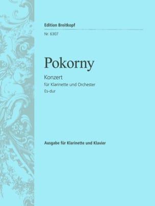 Concerto Pour Clarinette En Mib Maj. Franz Xaver Pokorny laflutedepan