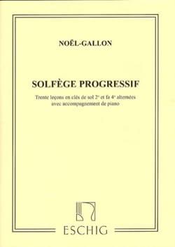 Solfège Progressif en 2 Clés avec Piano Noël Gallon laflutedepan