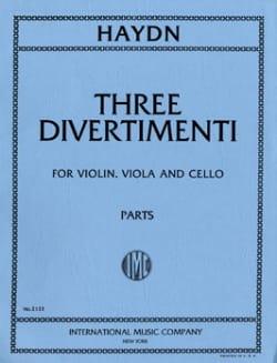 3 Divertimenti -Parts HAYDN Partition Trios - laflutedepan